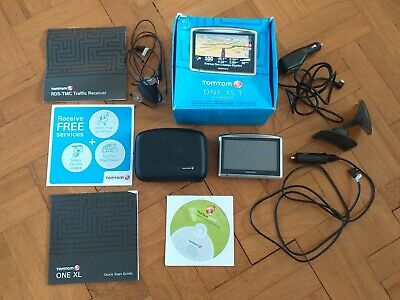 Tomtom One Xl Europe Map Sat Nav With Lots Of Accessories And Eddie Izzard Voice • 30£