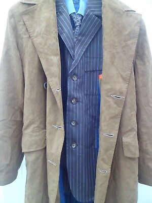 Doctor Who 10th Cosplay RARE Brown Suit Tie Coat SCREEN ACCURATE With Props GAP • 700£