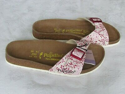 NEW Papillio By Birkenstock Ladies Pink Floral Mules Sandals UK Size 5.5 EU 39 • 44.99£