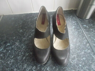 Clarks Black Leather Arch Support Shock Absorp Mary Jane Shoes-uk 5d**free P&p** • 13.99£