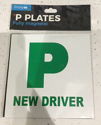 Simply 2 X Fully Extra Strong Magnetic Car P Plates Learner Driver Just Passed • 2£