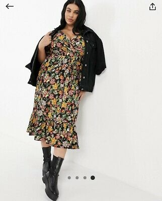 AU35 • Buy Yours Wrap Front Midi Dress In Floral Print. Asos Curve Size 20