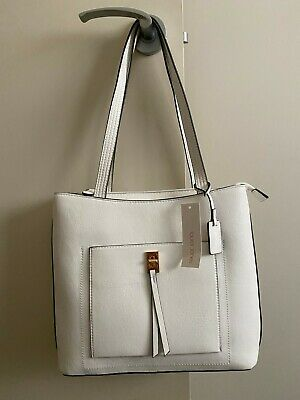AU15 • Buy Laura Jones White Lock Front Tote Bag Brand New Unwanted Gift