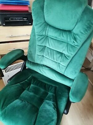 Cherry Tree Furniture Executive Recline Extra Padded Office Chair (Green Velvet) • 38£