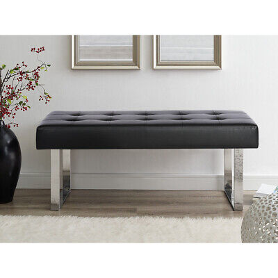 Upholstered Bench Seat Chaise Longue Chair Stool For Dining Room Hallway Bedroom • 75£