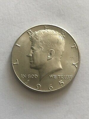 United States Of America Kennedy Half Dollar $ Coin 1965 - Silver Good Condition • 4.99£