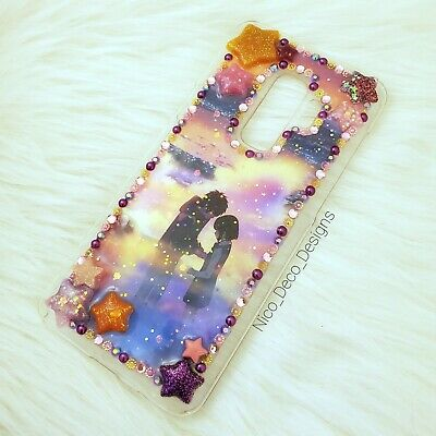 Your Name Glitter Resin Decoden Phone Case Samsung Galaxy S9+ • 17.37£