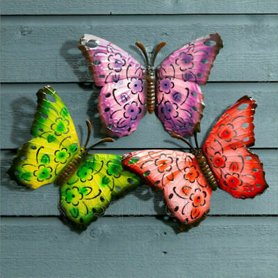 £9.93 • Buy   3X COLOURED OUTDOOR LARGE METAL BUTTERFLY GARDEN WALL ART DECORATIVe 20X30CM