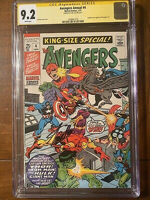 £350.58 • Buy Avengers Annual #4 1/71 Cgc 9.2 Ss Stan Lee White Page Nice Signed Copy