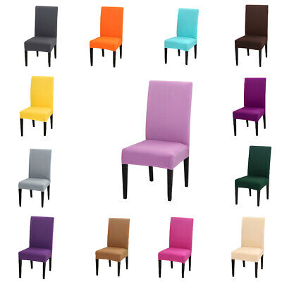 AU13.29 • Buy 1 X Strech Dining Chair Seat Covers Slip Wedding Party Anti-slip Removebale Gift