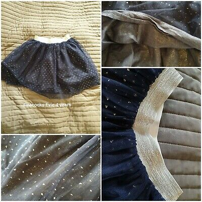 Peacocks Girls 4 Navy & Silver Tutu Style Layers Netted Skirt.  • 3£