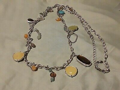 $ CDN3.79 • Buy Lia Sophia Signed Necklace Yellow Amber Orange Green Beads 38 Inches Long