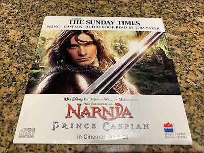 Narnia Prince Caspian Audio Book Read By Tom Baker - The Sunday Times Promo Cd • 3£