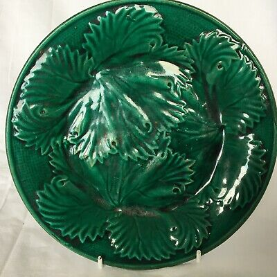 £25 • Buy Victorian Majolica Cabbage Leaf Plate 21cm (8.2in) #3