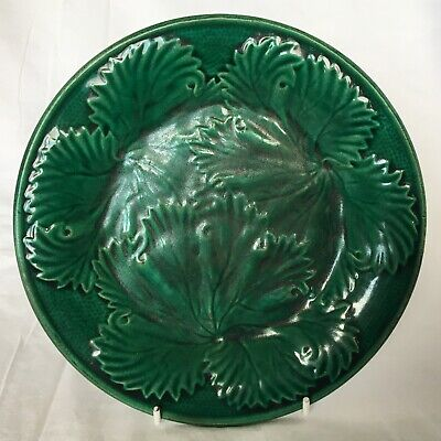 £25 • Buy Victorian Majolica Cabbage Leaf Plate 21cm (8.2in) #4