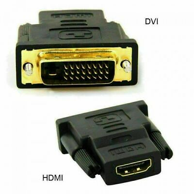 AU7.99 • Buy DVI D Male Dual Link To HDMI Female Converter Cable Cord Adapter Plug For HDTV