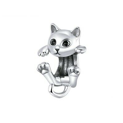 AU24.99 • Buy SOLID Sterling Silver Sweet Climbing Cat Kitten Charm - By Pandora's Wish