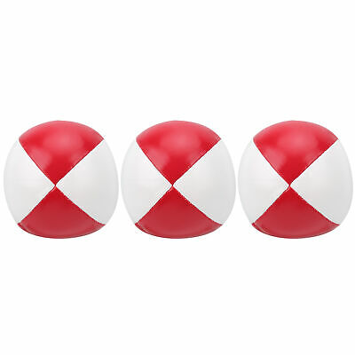 AU17.93 • Buy 3Pcs PU Leather Juggling Balls Indoor Leisure Portable Practice Ball Red White