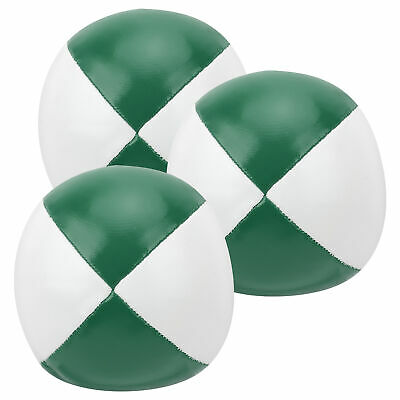 AU17.93 • Buy 3Pcs PU Leather Juggling Balls Indoor Leisure Portable Practice Ball Green White
