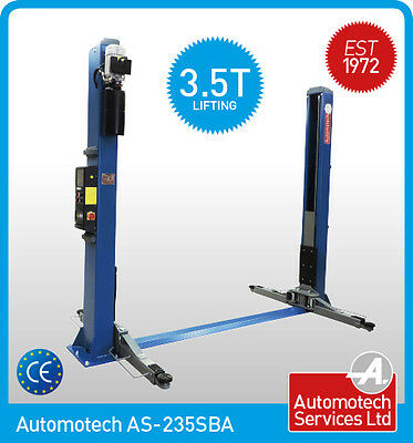 2 Post Lift / Car  Vehicle Ramp Hoist 3.5 Ton, Two Post / Single Point Release  • 1,488£