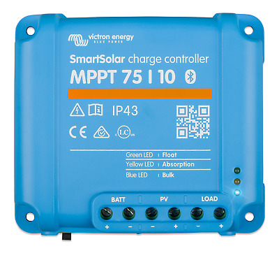 £99.80 • Buy SmartSolar MPPT 75/10 Solar Charge Controller - Bluetooth - Victron
