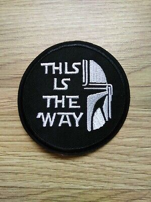 £3.99 • Buy Star Wars Patch Iron On Sew On Badge This Is The Way Mandalorian Mandalore Order