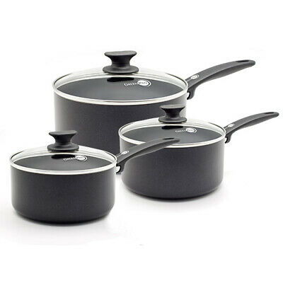 GreenPan Cambridge Ceramic Non-Stick 3 Piece Saucepan Set • 78.76£