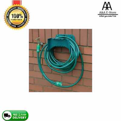 £5.45 • Buy Garden Hose Pipe Hanger Wall Mounted Cable Tidy Storage Shed Hose Reel Holder