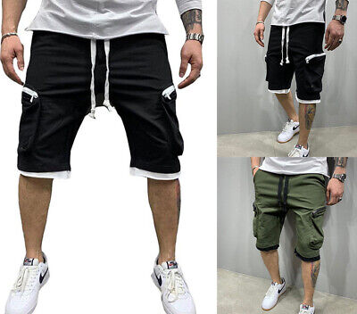 $22.99 • Buy Mens Casual Zipper Pocket Shorts Sport Joggers Pants Summer Gym Fitness Workout