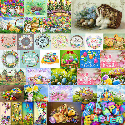 Easter 5D DIY Full Diamond Painting Cross Stitch Embroidery Kit Craft Home Decor • 4.99£