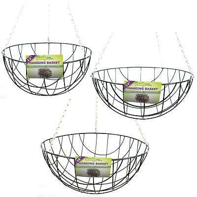 £5.84 • Buy Outdoor Garden Metal Wire Hanging Basket Planters Available In 12  14  Or 16