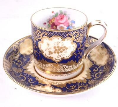 £49.99 • Buy Antique Hand Painted Crown Staffordshire Porcelain Coffee Cup & Saucer