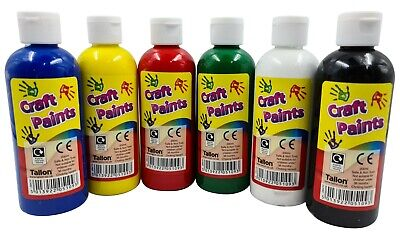 £14.99 • Buy 6 X 200ml Poster Paint Childrens Ready Mixed Non Toxic Kids Paints Bottles CRAFT