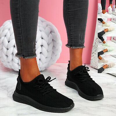 $ CDN25.56 • Buy Womens Ladies Knit Sneakers Party Trainers Women Running Sport Gym Shoes Size