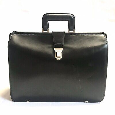 """$158 • Buy Vintage Johnston & Murphy Leather Briefcase Doctor's Bag 18"""" Usa Preowned"""
