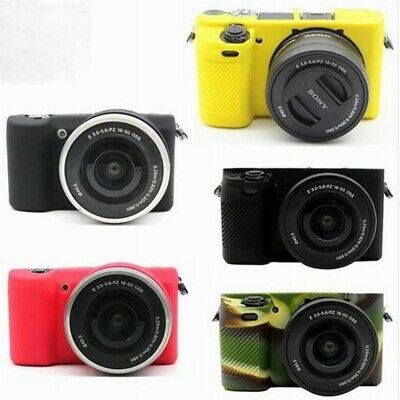 $ CDN13.31 • Buy Soft Silicone Body Cover Case For Sony A6100 A5100 A5000 16-50mm Camera Bag