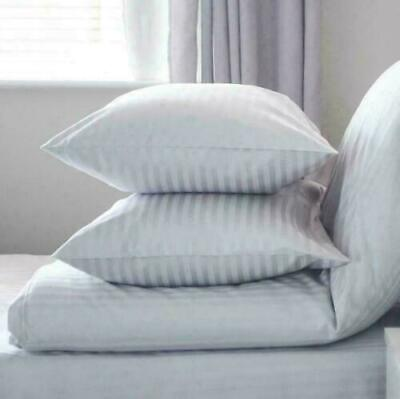 £8.95 • Buy Extra Large Jumbo Pillows Hotel Quality Striped Pillows Pack Of 2 DELUXE PILLOW