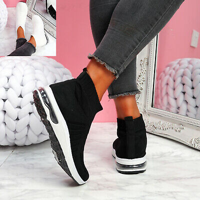 $ CDN25.89 • Buy Womens Ladies Sock Sneakers Party Trainers Fashion Women Knit Shoes Size Uk