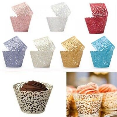 £2.89 • Buy 12 Pack Cupcake Wrappers Vine Lace Muffin Holder Cases Wedding Birthday Event De