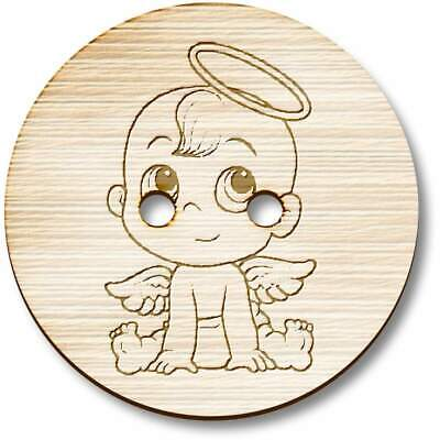 £3.99 • Buy 'Angel Baby' Wooden Buttons (BT028609)