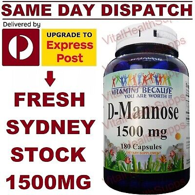 AU79.95 • Buy VitaBec D-Mannose 1500mg 180 Capsules DOUBLE STRENGTH MEGA VALUE Urinary Tract!
