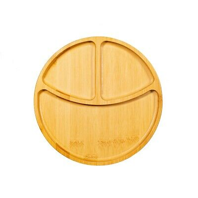 £8.29 • Buy Sass And Belle Three Section Bamboo Plate Kids -Weaning -Food 20cm Gift Idea