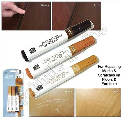 £2.09 • Buy Furniture Scratch Marker 3 Shades Touch Up Pen Laminate Wood Floor Marks Repair