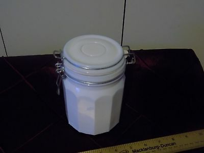 $6.50 • Buy Vintage Small Milk White Glass Bail Top Canister