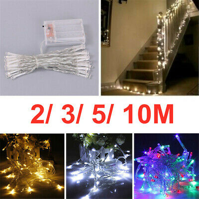 £3.59 • Buy Battery Operated LED Fairy String Lights Wedding Christmas Holiday Bedroom Decor