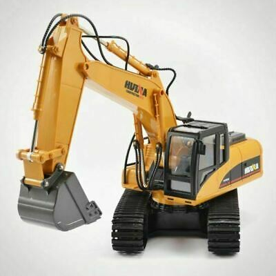 Remote Control Digger Excavator - Huina RC 1:14 Scale Rubber Treads RC Kids Toy • 59£
