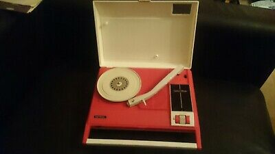 AU149.99 • Buy Retro 70s Red National Mini Portable Turntable Record Player Made In Japan