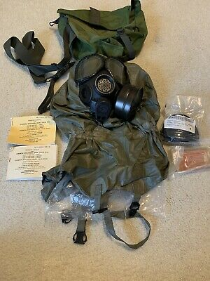 $250 • Buy USGI M40 Gas Mask With Bag, Filter, Gray Outserts And Chemical Garment BRAND NEW