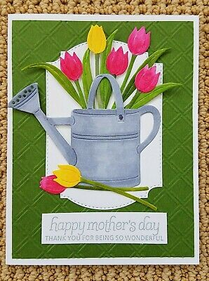 £9.22 • Buy CARD KIT Handmade HAPPY MOTHER'S DAY Greeting Cards With Envelopes TULIP FLOWERS
