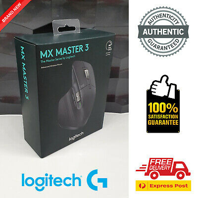 AU129.95 • Buy Logitech MX Master 3 Wireless Mouse (BRAND NEW IN BOX, AUTHENTIC)